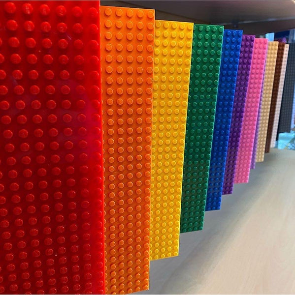 10x10 inch Lego-compatible baseplate (many colors)
