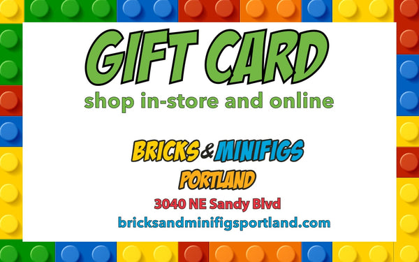 Bricks & Minifigs Portland Gift Card