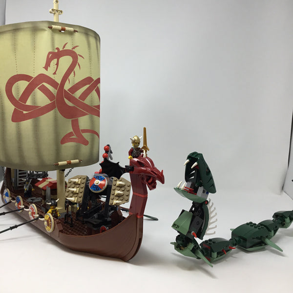 7018-1 Vikings Viking Ship challenges the Midgard Serpent(Used)