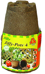 Jiffy Pots (4inch) (Pack of 6)
