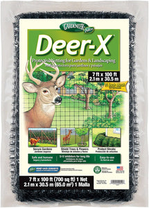 Deer-X Protective Netting For Gardens and Landscaping (7' x 100')