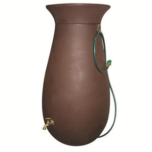 Algreen Dark Brown Rain Barrel (65 gal)