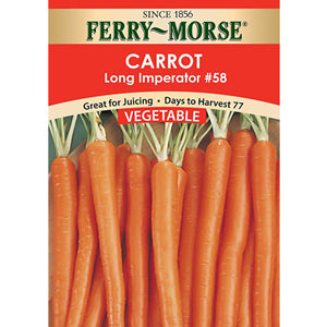 Carrot Long Imperator Seeds