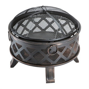 DDI Backyard Expressions Fire Pit With Screen - 26in