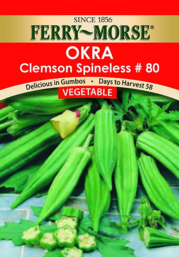 Okra Clemson Spineless Seeds