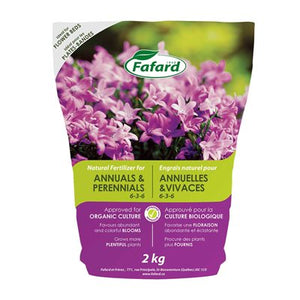 6-3-6 Natural Fertilizer For Annuals And Perennials 2kg