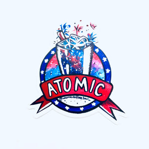 Atomic July Sticker