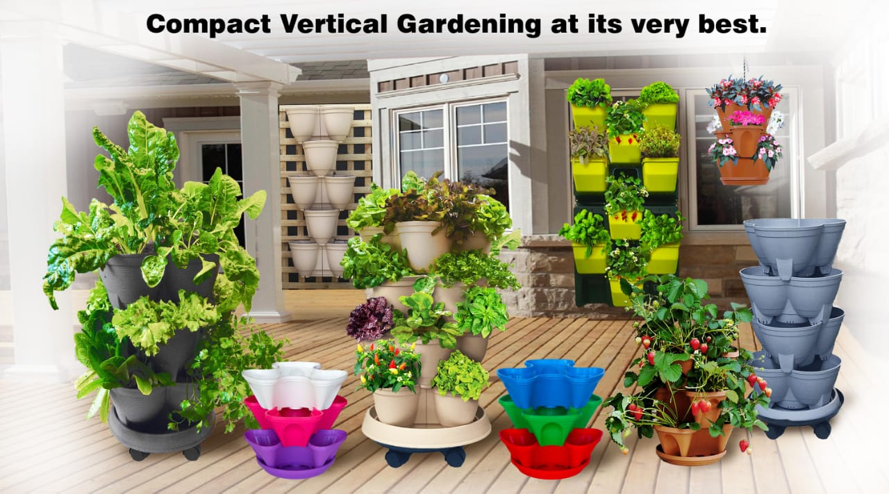 Stackapots have a range of Stacking Planters and Vertical Gardens. It was the Inventor of these modern-day Stackable Pots and ideal for Herb Planters, Strawberry Pots and above ground Garden Beds. We have Self-watering and Hydroponics adaptable versions.