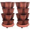 Stackapots 'Multi-Tubs' Multi-Functional Stacking Planter TWIN PACK with Trolleys and Free Postage
