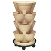 Stackapots Midi Stacking Pots with Trolley and Free Postage