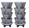 Stackapots Midi Stacking Planters Twin Pack with Trolleys and Free Postage