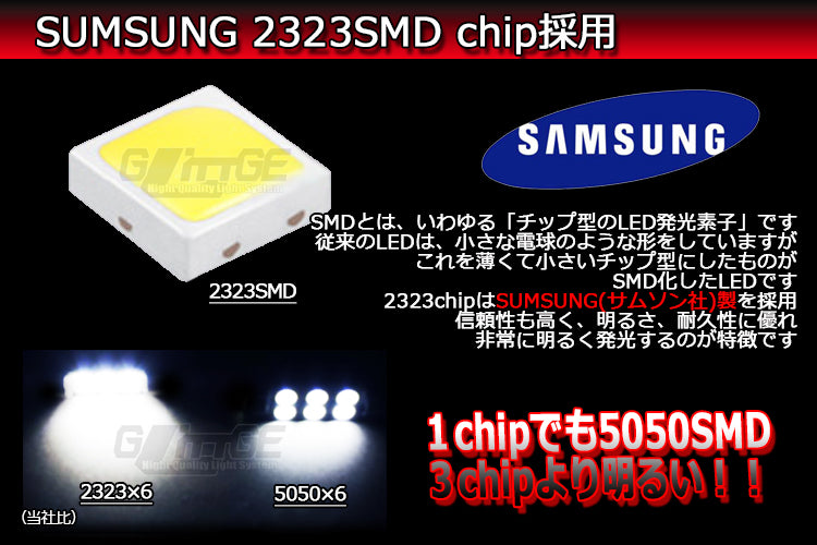 SUMSUNG 2323SMD chip採用