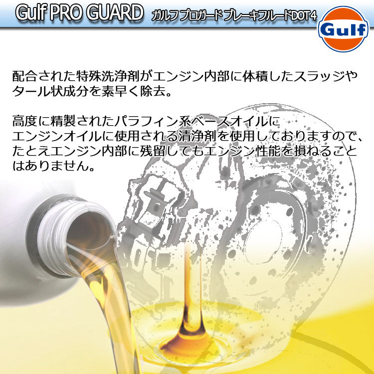 Gulf PRO GUARD Brake Fluid DOT4 ガルフ ブレーキフルード 1L缶