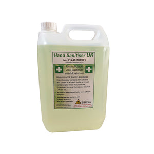 HS70 - Hand Sanitiser 70% alcohol - 5 Litres - Anti Bacterial with Moisturiser