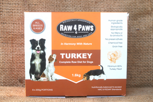 Raw4Paws 8 x 200g Portions for Dogs