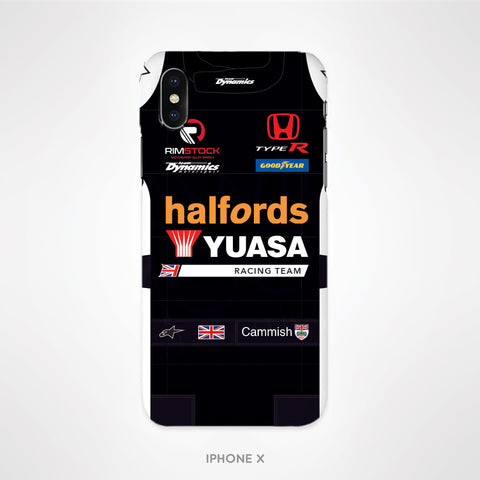 Halfords Yuasa Racing Clear Soft Gel Phone Case - Dan Cammish