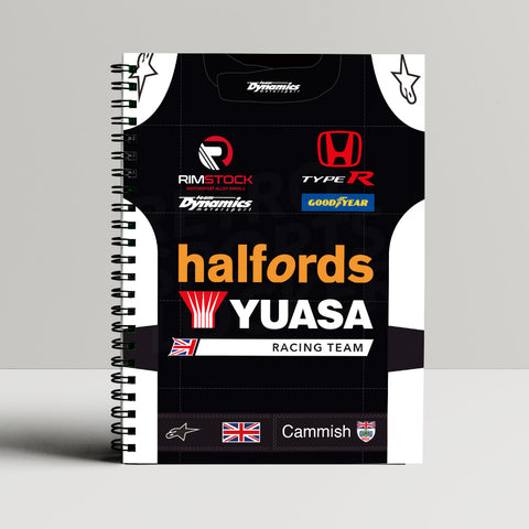 Halfords Yuasa Racing A5 Notebook