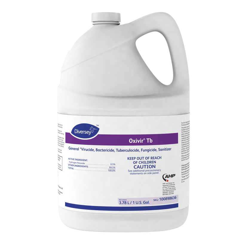 Diversey Oxivir TB Disinfectant (one-gallon bottle; 4 one-gallon bottles per case)