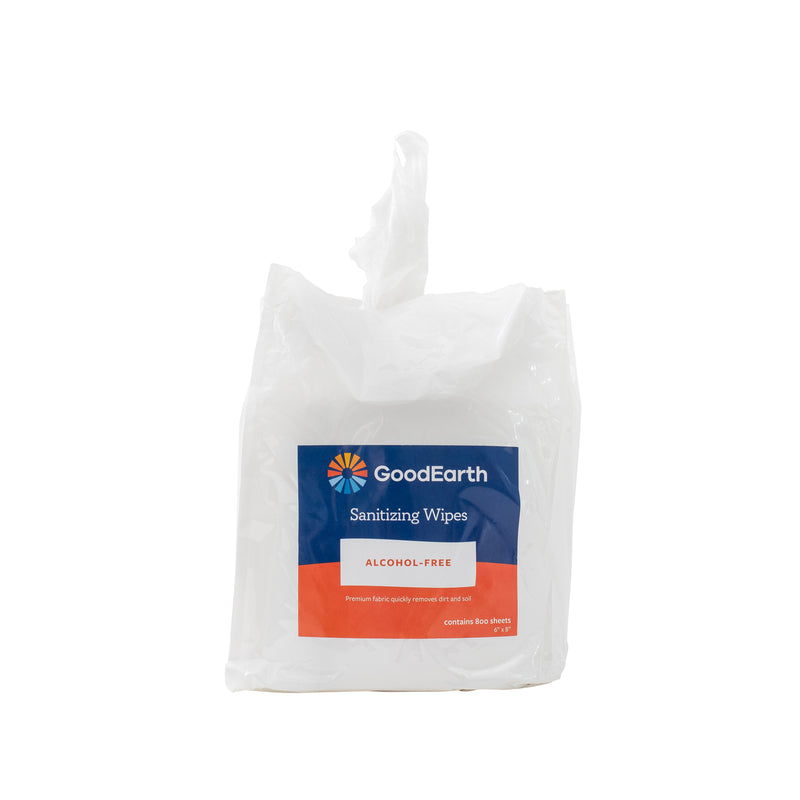 GoodEarth Sanitizing Wipes Refill Bag - 3200 Total Wipes (800 wipes per bags; 4 bags per case)