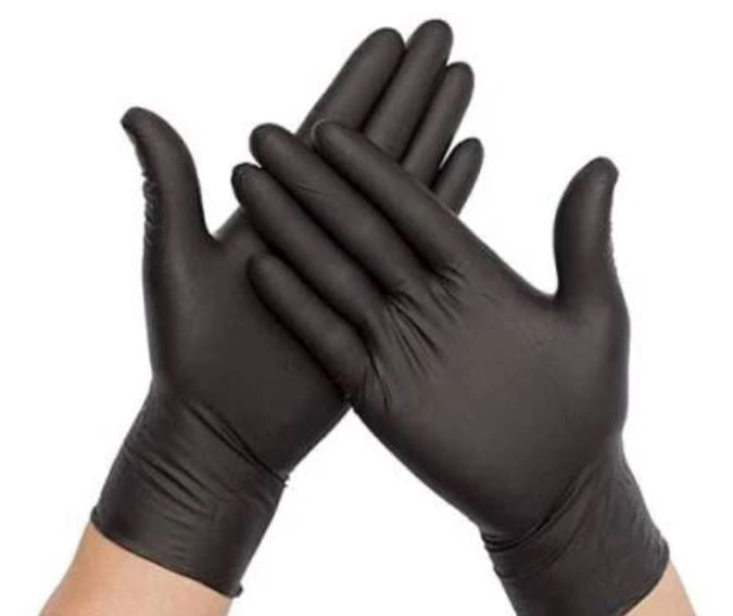AMMEX X3 Black Nitrile Powder-Free Gloves (10 packages per case; 100 gloves per pack)