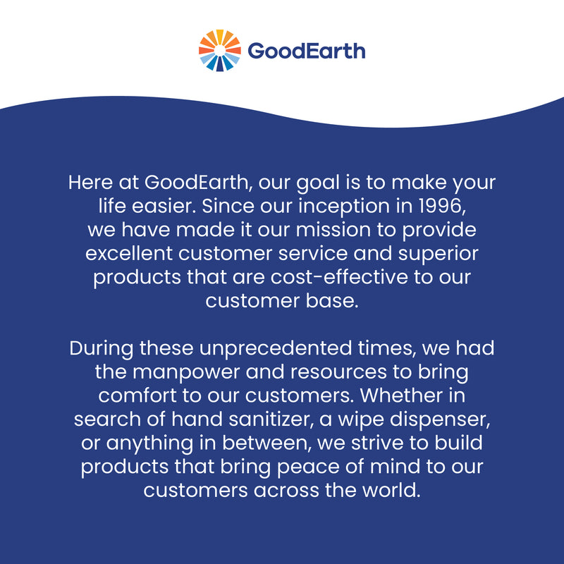 GoodEarth 75% Ethanol Alcohol-Based Antibacterial Travel Wipes - 1440 Total Wipes (60 wipes per pack; 24 packs per case)