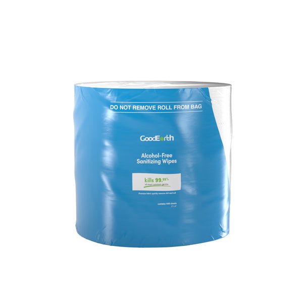 GoodEarth Sanitizing Wipes - 4400 Total Wipes (1100 wipes per roll; 4 rolls per case)