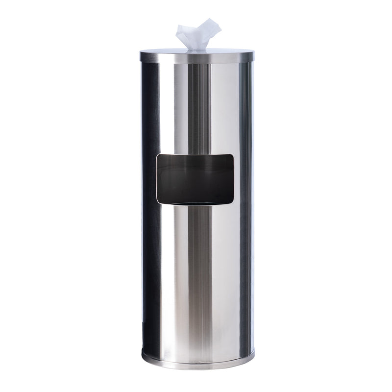 GoodEarth Stainless-Steel Floor Stand Wipe Dispenser with Built-in Trash Receptacle