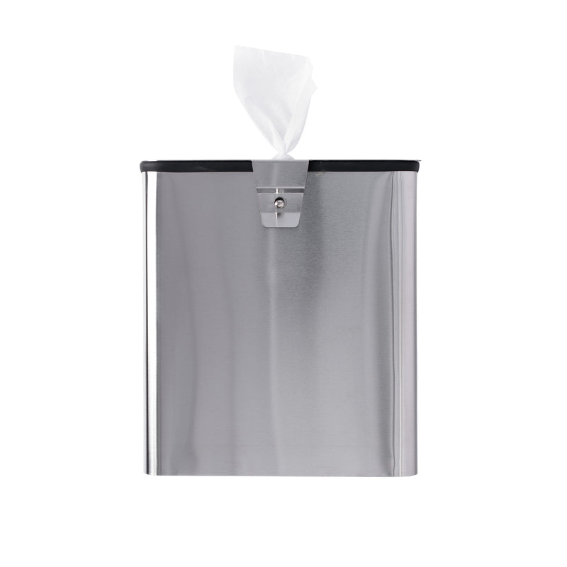 GoodEarth Stainless Steel Square Wall Mount or Countertop Wipe Dispenser