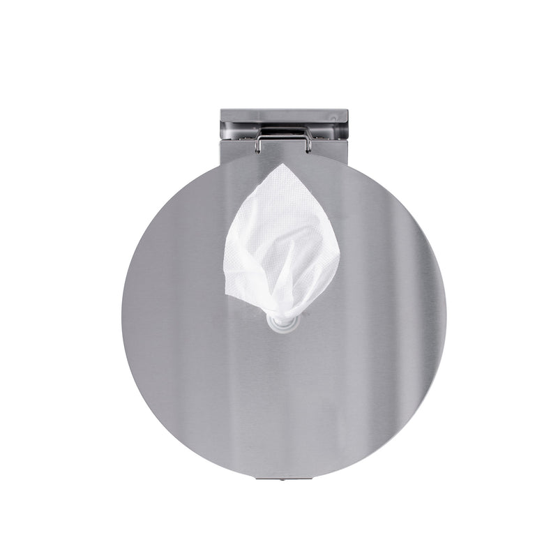 GoodEarth Stainless Steel Round Wall Mount or Countertop Wipe Dispenser