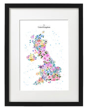 Load image into Gallery viewer, UK Flower Map Fine Art Print By Alice Johnson Artwork