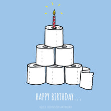 Load image into Gallery viewer, Happy Birthday Loo Rolls Greeting Card by Alice Johnson Artwork