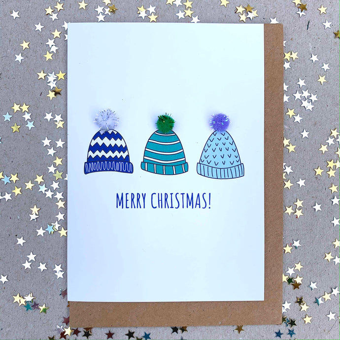 Festive Christmas Hats by Alice Johnson Artwork