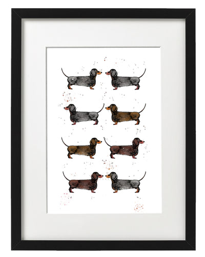 'Lots Of Sausages' Fine Art Print By Alice Johnson Artwork.
