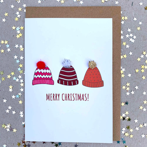 Merry Christmas Hats by Alice Johnson Artwork