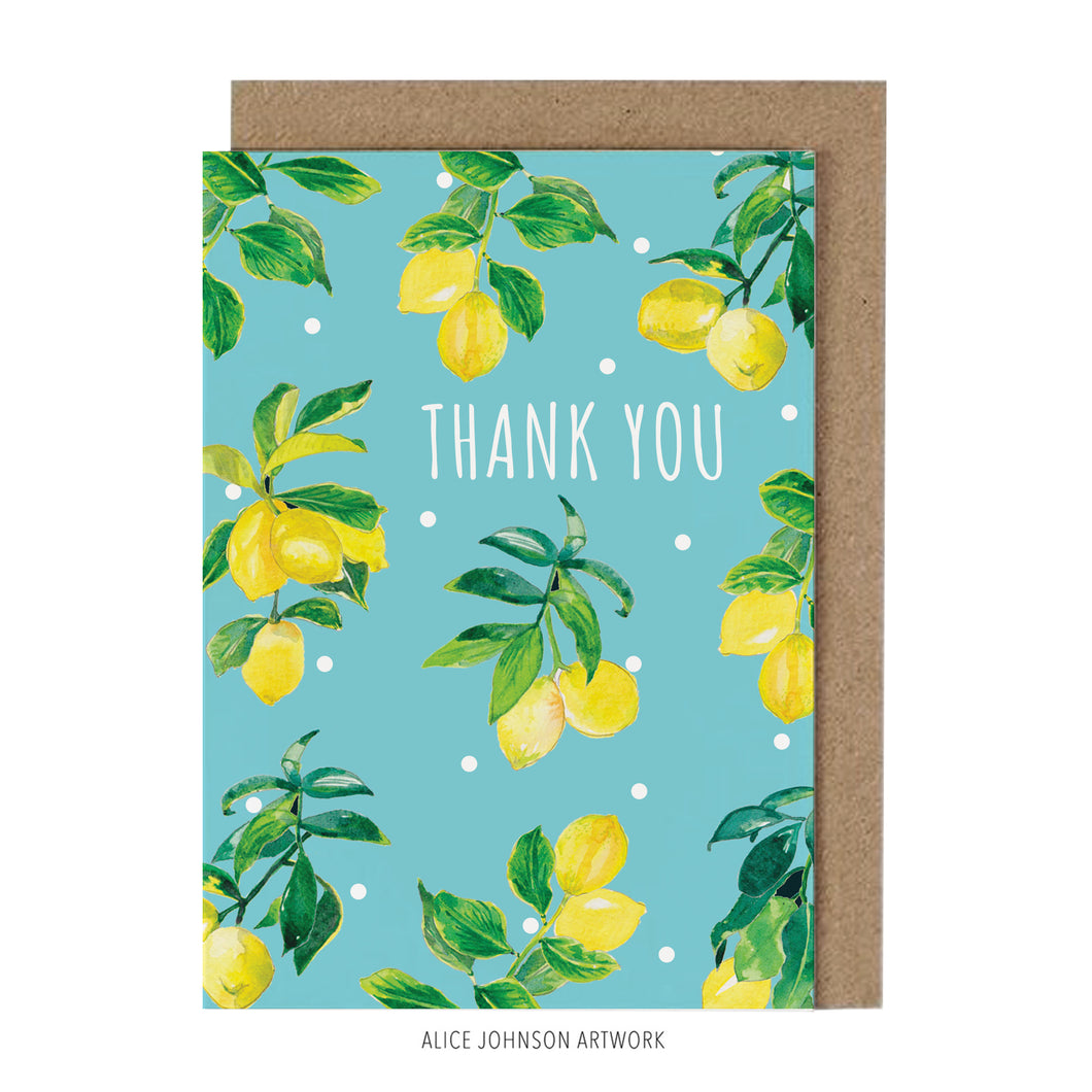 Thank You Lemons by Alice Johnson Artwork