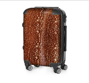 ANTELOPE ON CARAMEL COWHIDE LUGGAGE