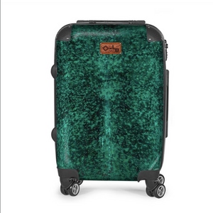 GREEN ACID WASHED COWHIDE LUGGAGE