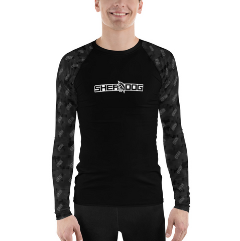 Sherdog - Black Camo with Logo | Men's Rash Guard - SD-Merch