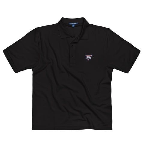 Superhero Hype - Embroidered Logo | Men's Premium Polo - SHH-Merch
