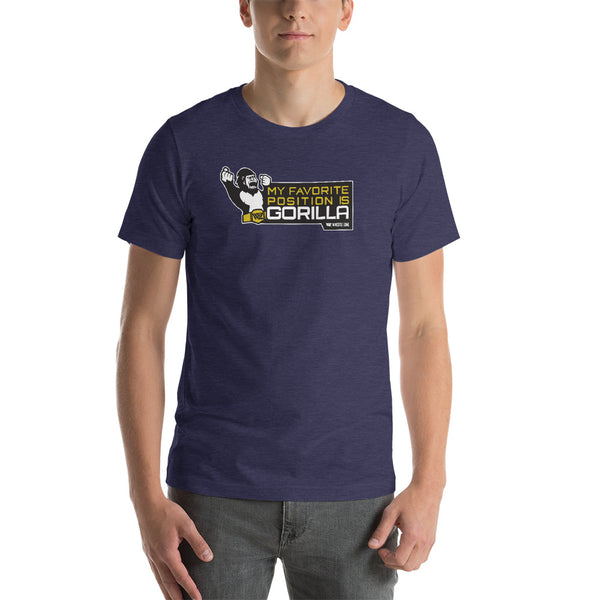 WrestleZone - My Favorite Position is Gorilla | Short-Sleeve Unisex T-Shirt - WZ-Merch