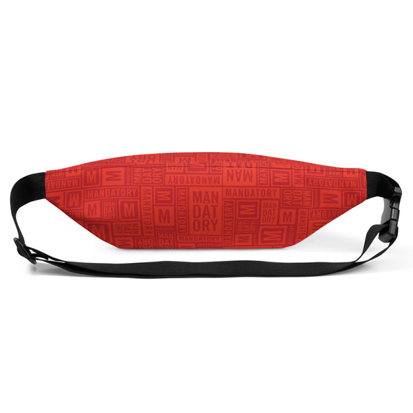 Mandatory - Red Pattern | Fanny Pack - MD-Merch