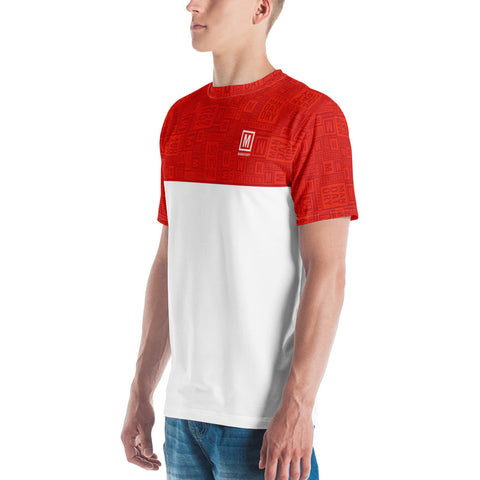 Mandatory - Red Pattern Stripe | Men's T-shirt - MD-Merch