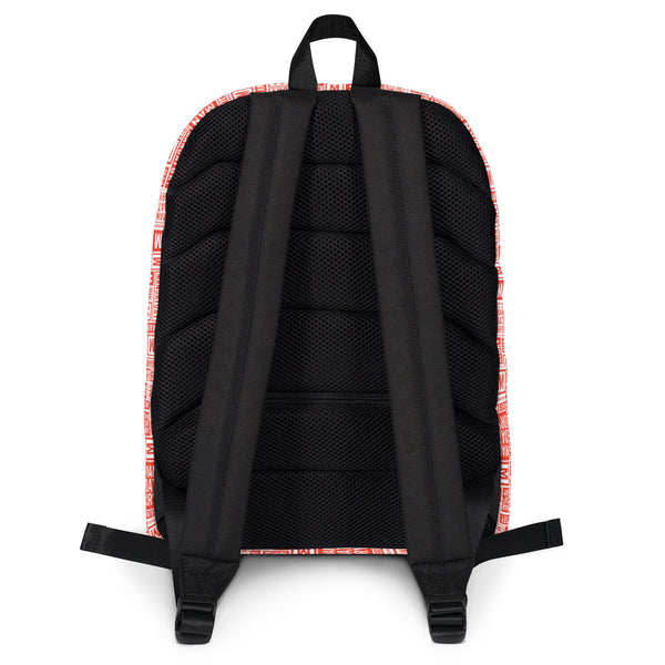 Mandatory - Red Pattern | Backpack - MD-Merch