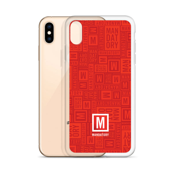 Mandatory - Red Pattern | iPhone Case - MD-Merch
