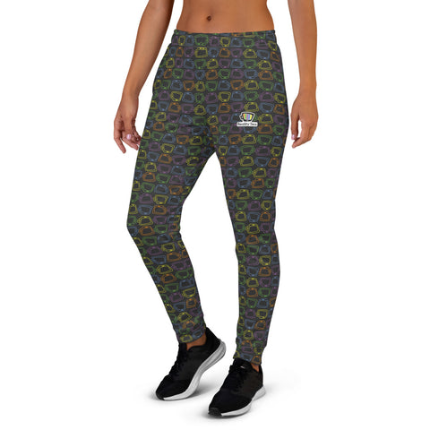 Reality Tea - Colorful Pattern on Black | Women's Joggers - RT-Merch