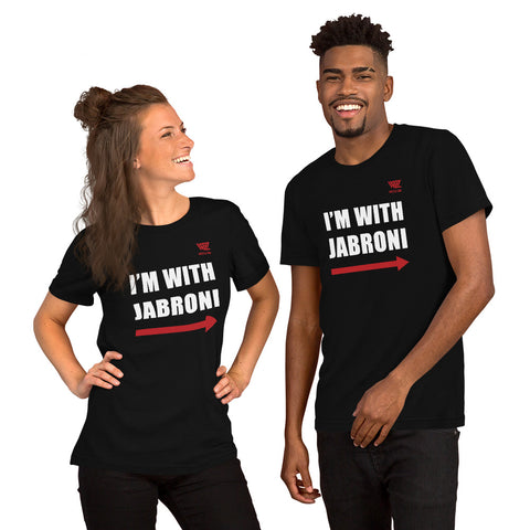 WrestleZone - I'm With Jabroni (Right) | Short-Sleeve Unisex T-Shirt - WZ-Merch