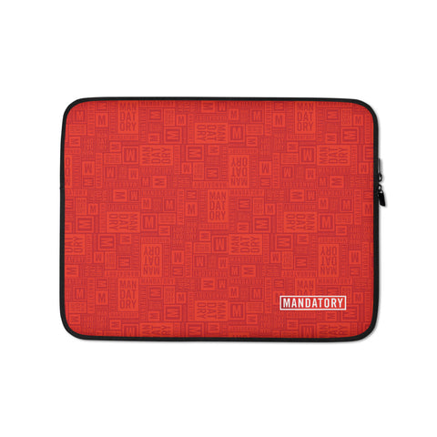 Mandatory - Red Pattern | Laptop Sleeve - MD-Merch