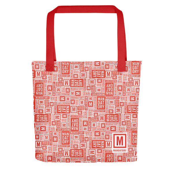 Mandatory - Red Pattern | Tote Bag - MD-Merch