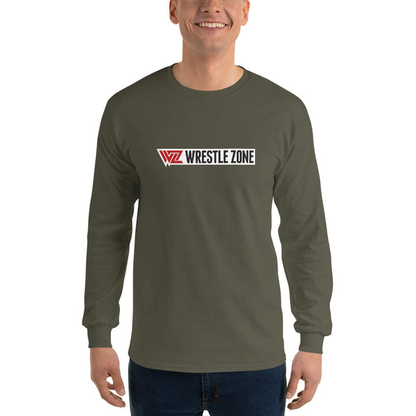 WrestleZone - General Logo | Men's Long Sleeve Shirt - WZ-Merch