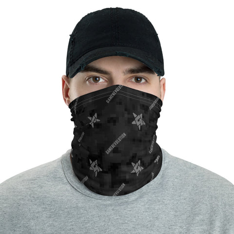 GameRevolution - Black Camo with Logo | Neck Gaiter - GR-Merch